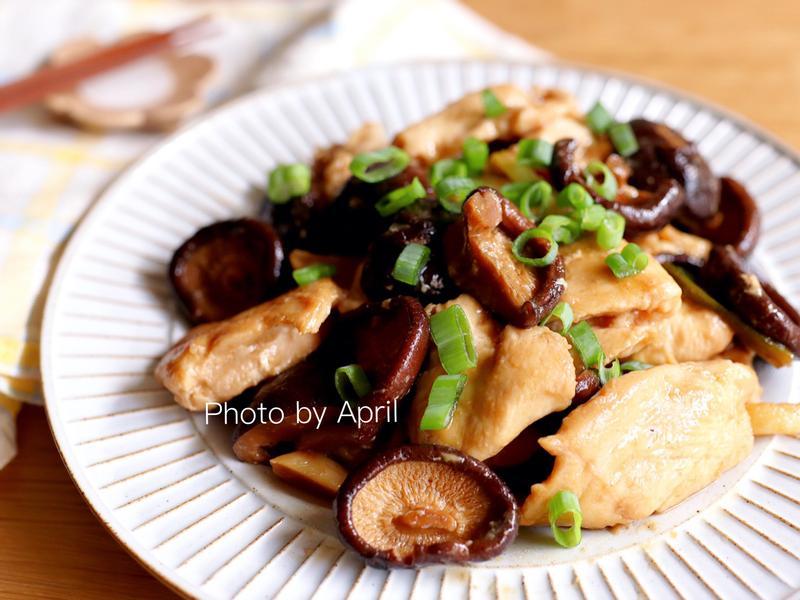 紅燒香菇滑雞片