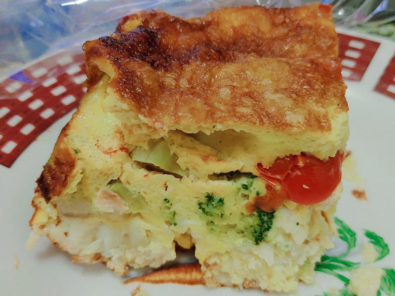鯛魚起司蕃茄青花菜烘蛋(氣炸)