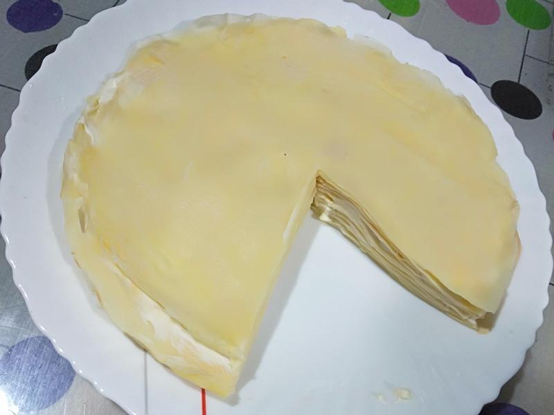 原味千層蛋糕~不用烤箱平底鍋簡單料理