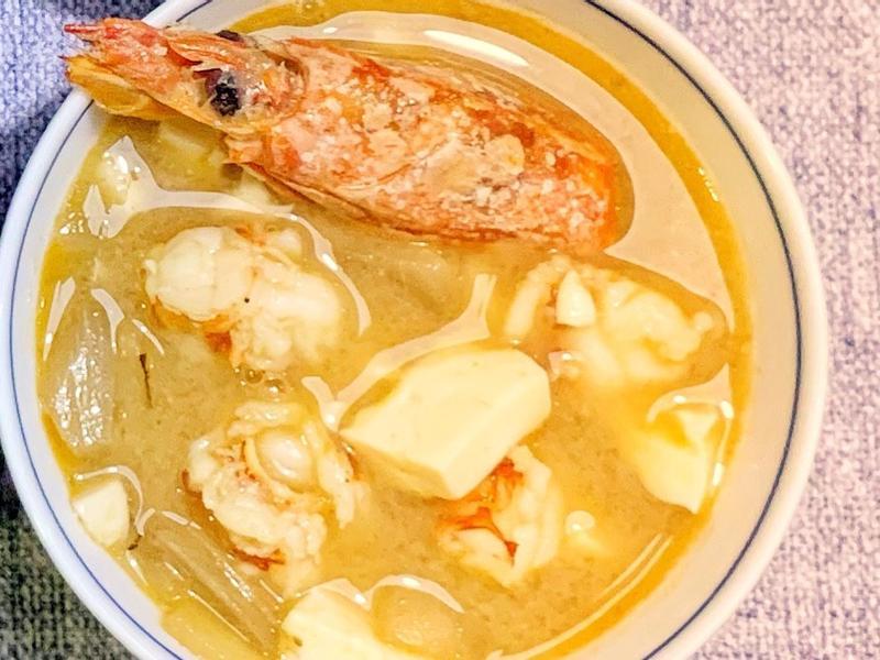 日式紅蝦味噌湯