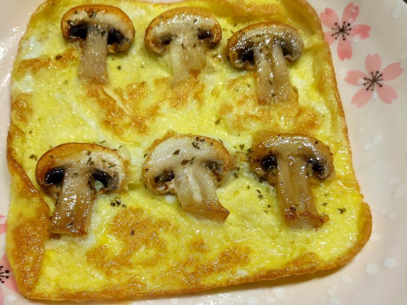 蘑菇蛋燒~便當菜