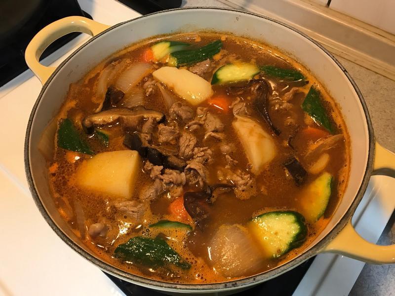 韓式牛肉大醬湯