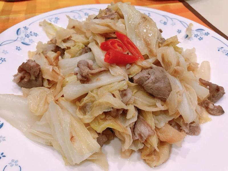 高麗菜炒羊肉