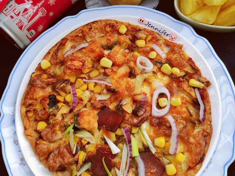 免揉台味烏魚子披薩