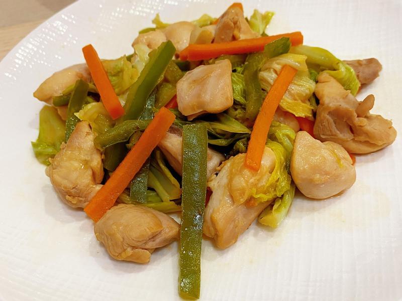 味增拌炒雞腿野菜