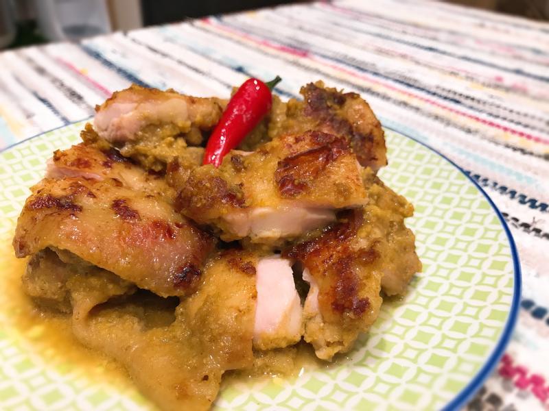 優格咖喱雞腿排