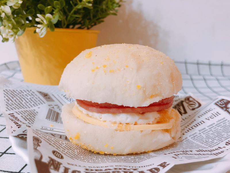 氣炸鍋+麵包機料理-英式鬆餅(滿福堡)