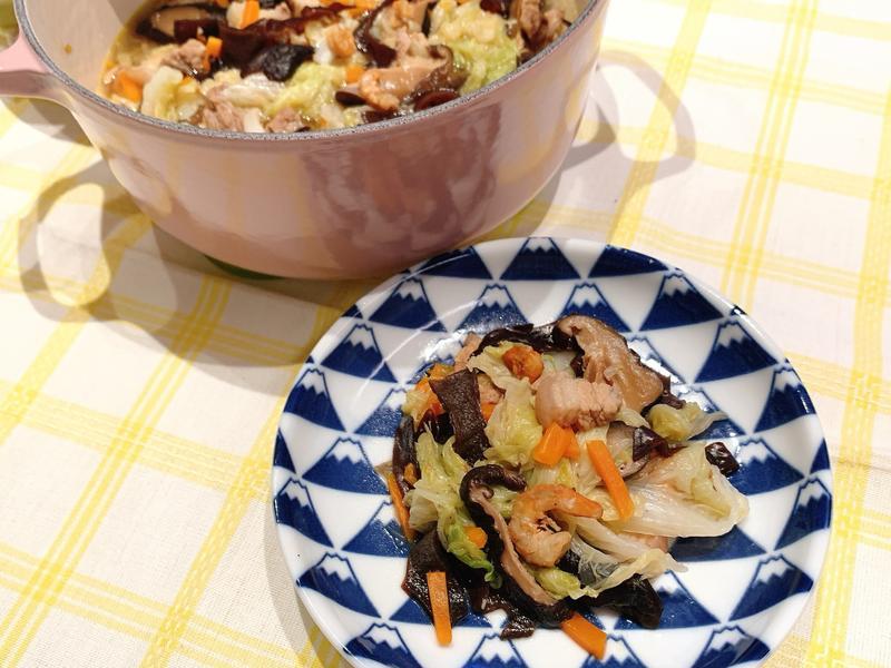 鑄鐵鍋白菜滷