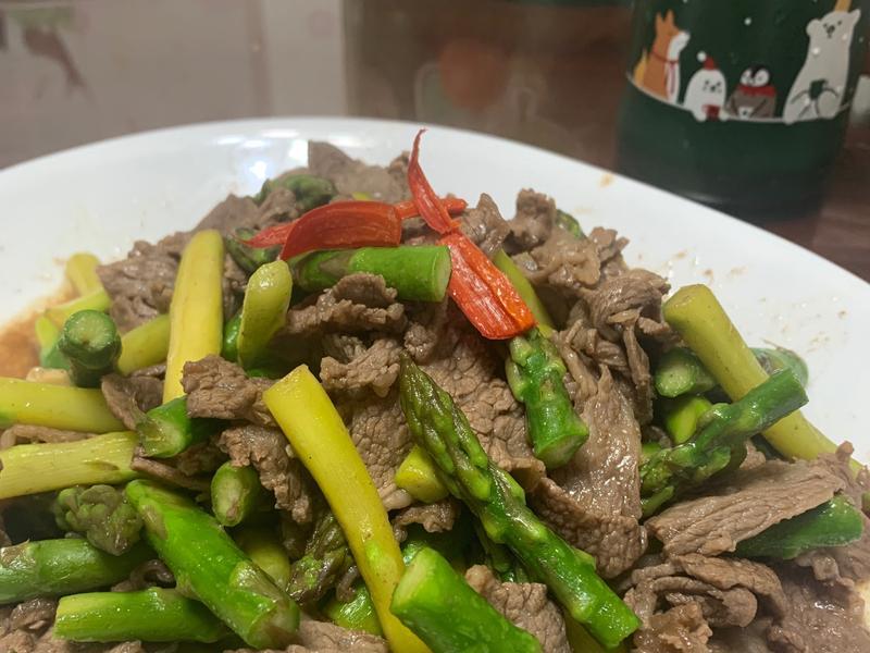 蘆筍炒牛肉