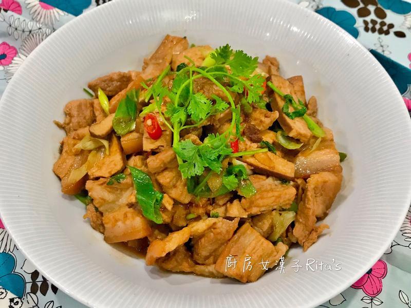 三層肉炒豆干