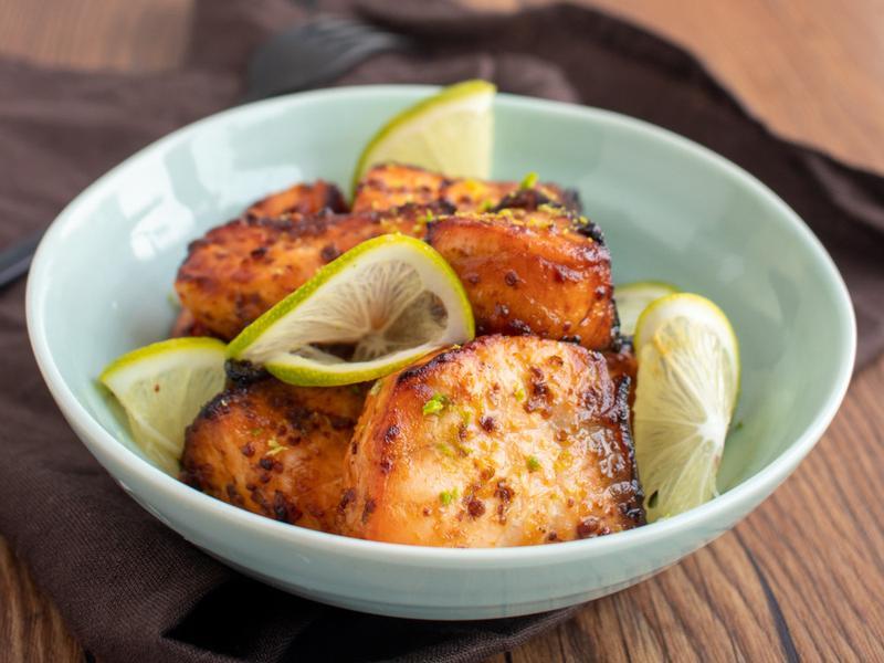 氣炸鍋料理《蜂蜜芥苿籽鮭魚》