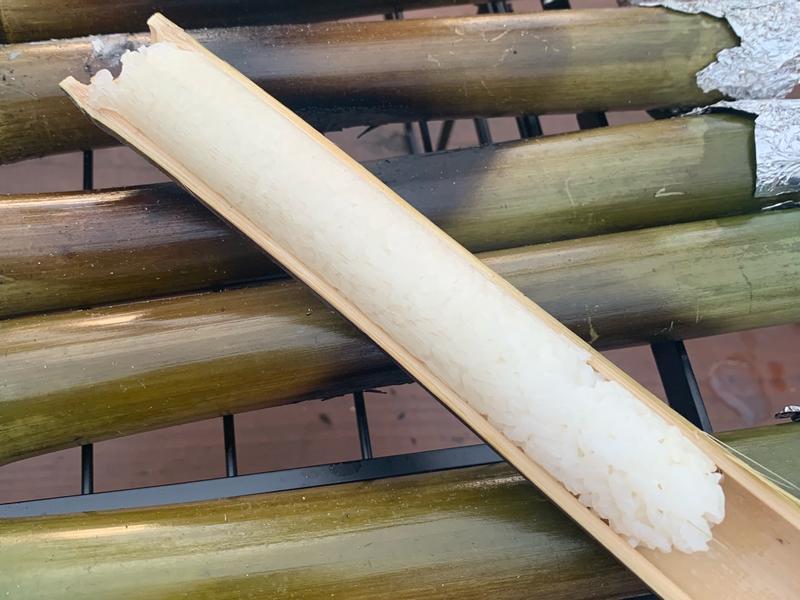 竹筒飯:露營出好菜