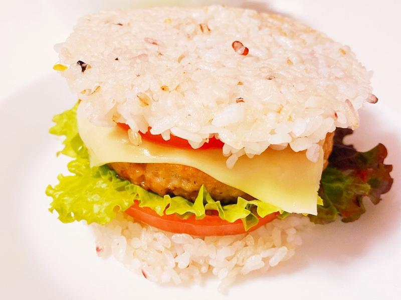 照燒排米漢堡(奶蛋素食)