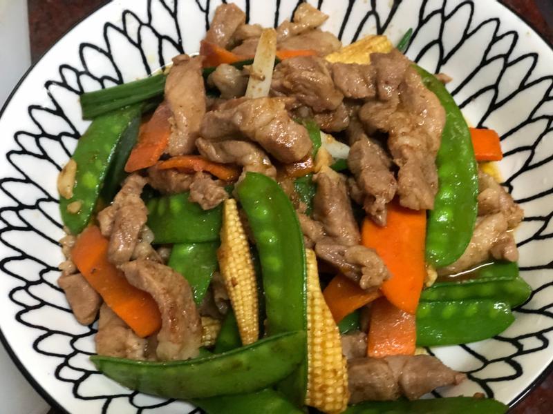 豌豆夾炒肉絲