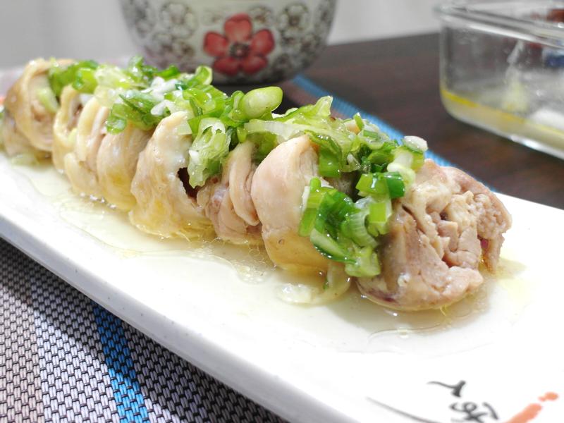 【家常菜】蔥油雞腿捲(電鍋料理)