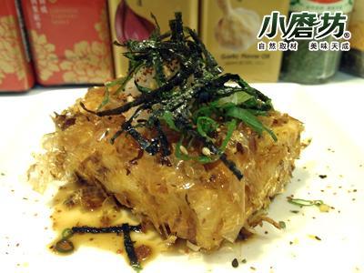 【小磨坊】風豆腐佐蔥燒醬