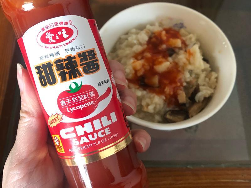 香菇竹筍粥(甜辣醬絕搭)