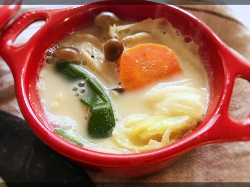 蔬菜豆乳湯 (露營OK)