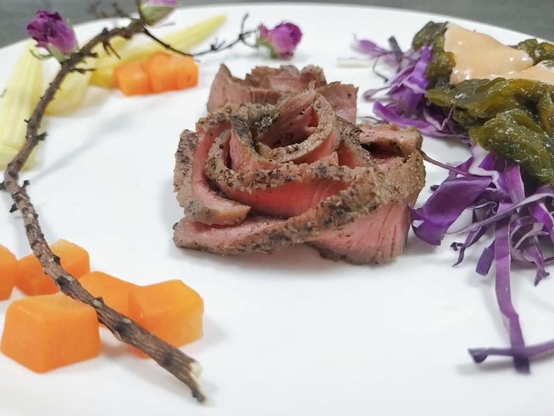 真-血玫瑰牛排套餐