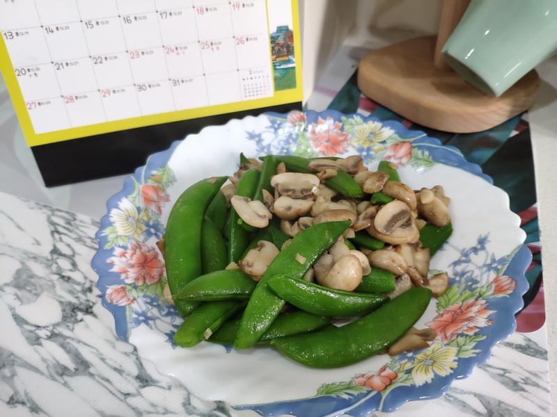 蘑菇炒甜豆