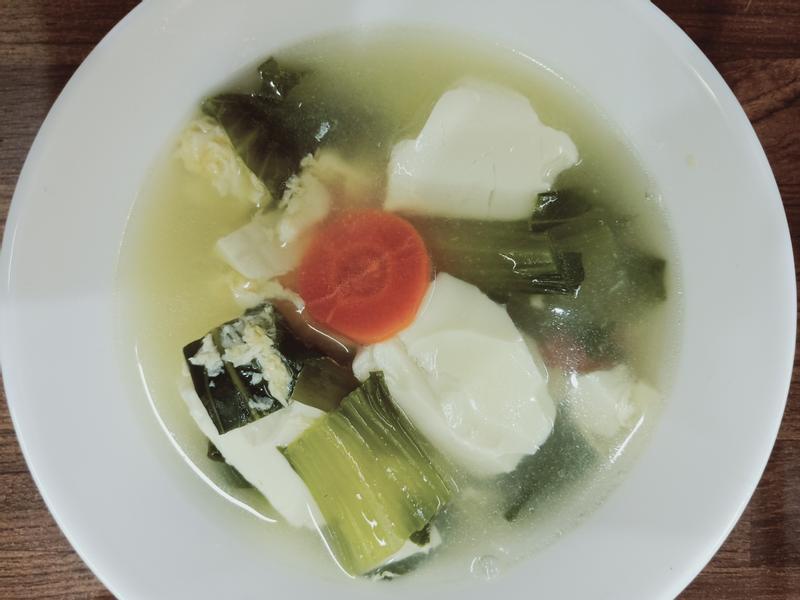 豆腐青菜湯