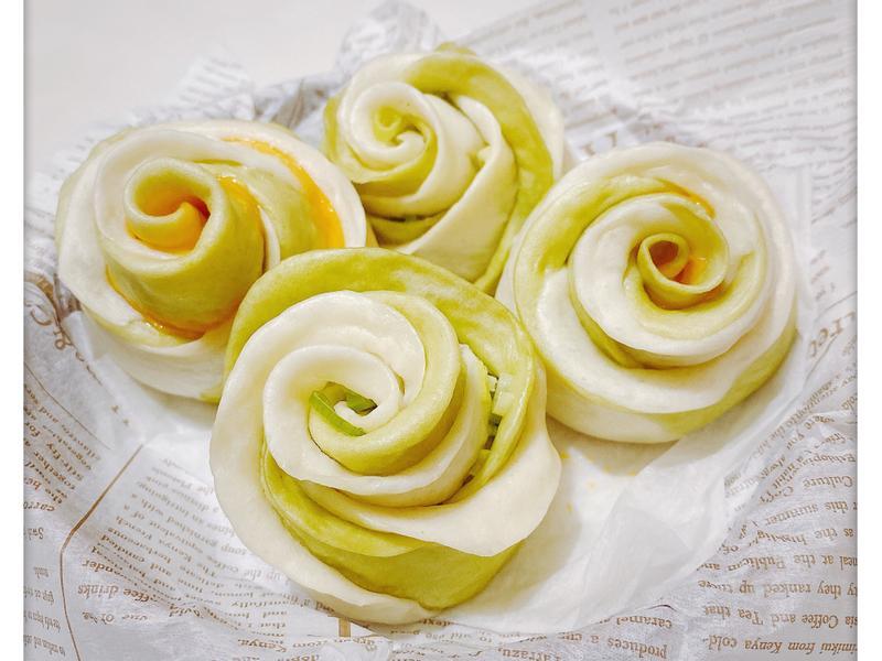 玫瑰起司蔥花饅頭