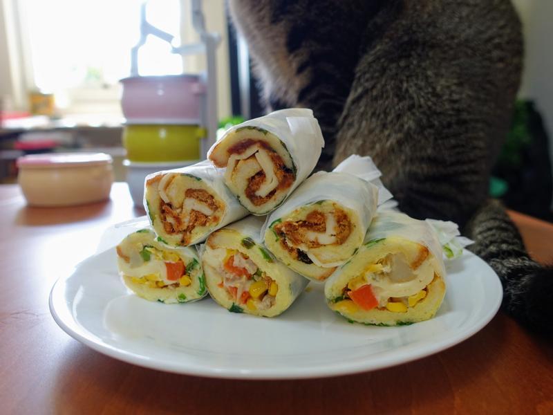 香蔥肉鬆吐司捲(親子料理)