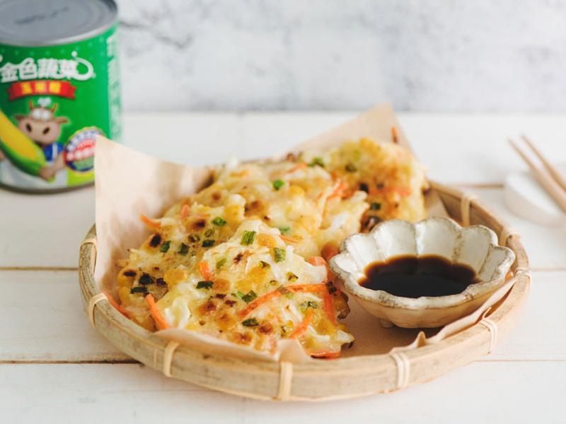 蔬菜玉米煎餅