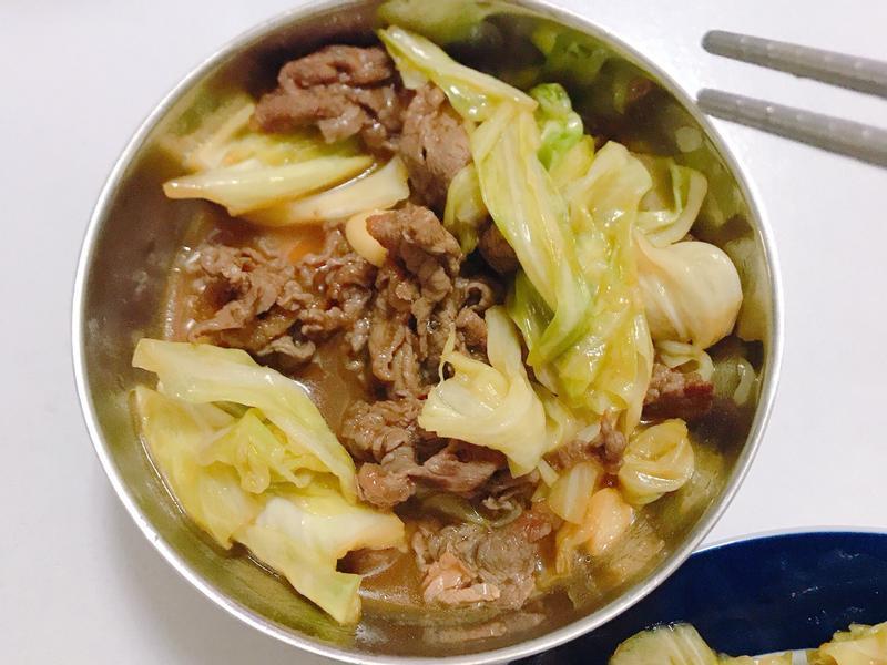 蠔油高麗菜牛肉