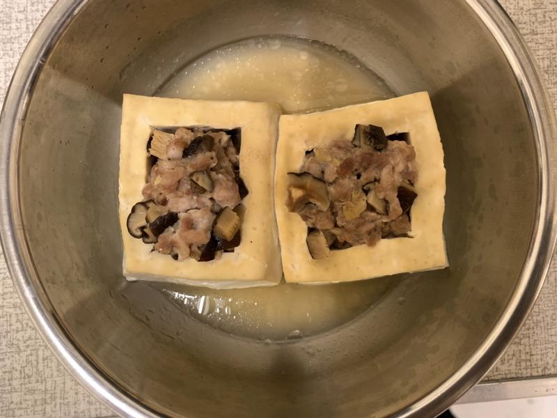 豆腐鑲肉(快煮鍋蒸料理)