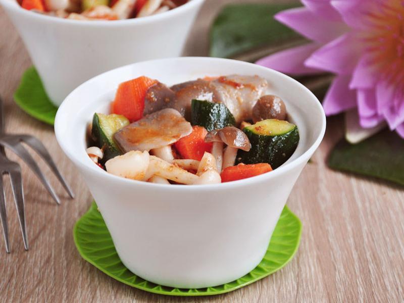 涼拌沙茶菇菇