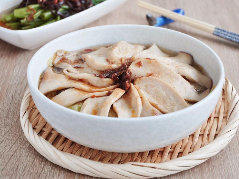 清蒸杏鮑菇生菜