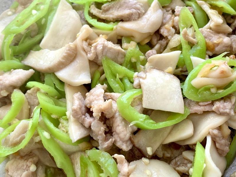 杏鮑菇炒肉