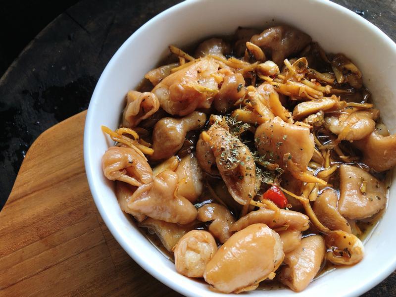 簡單版家常料理:薑絲炒大腸