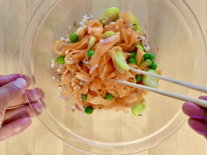 蠶豆紅蘿蔔沙拉