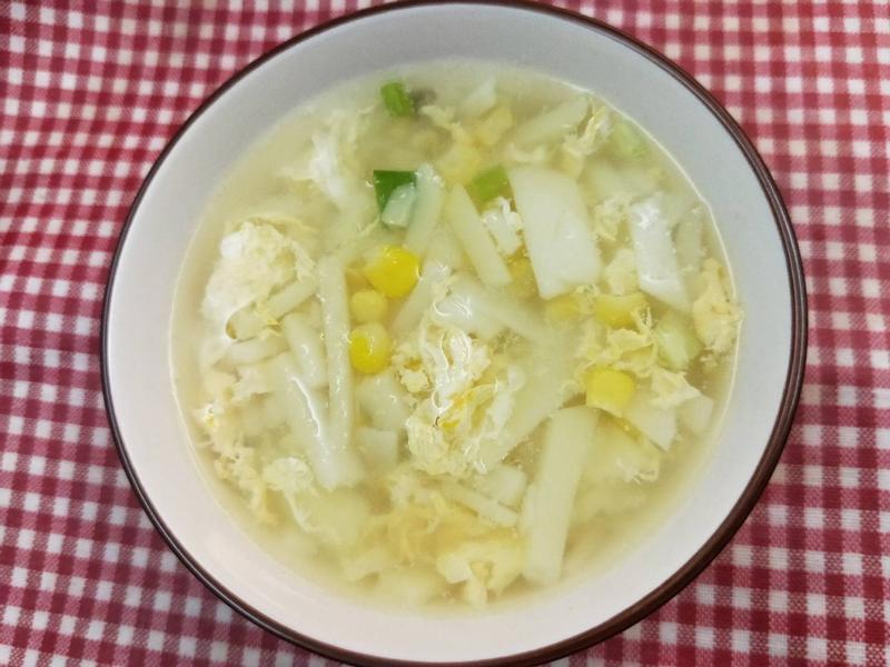 白玉馬鈴薯(豆薯)玉米蛋花湯