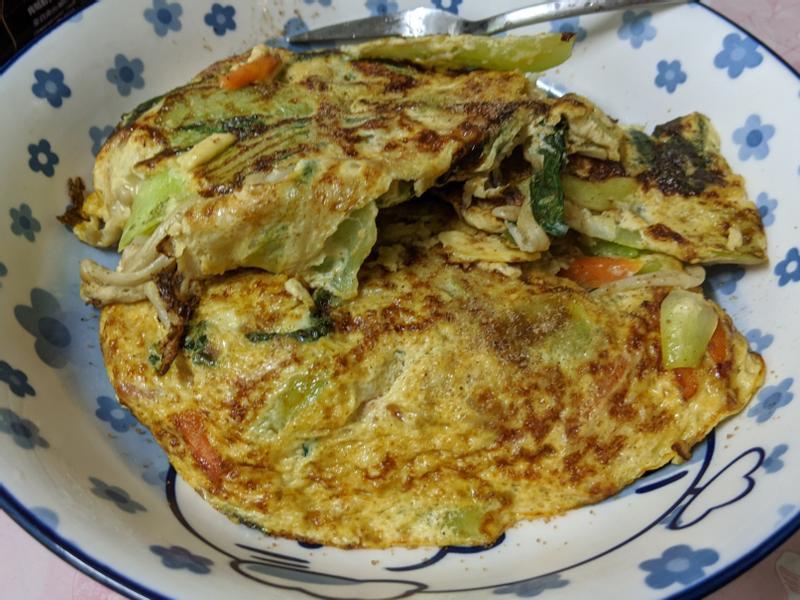 [蛋奶素/減脂]青江菜烘蛋(無五辛)