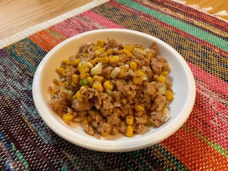 新豬肉炒玉米 (五辛素不含蛋奶)