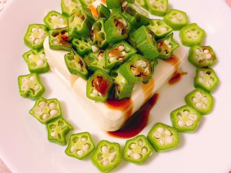 秋葵豆腐冷菜(素食可)