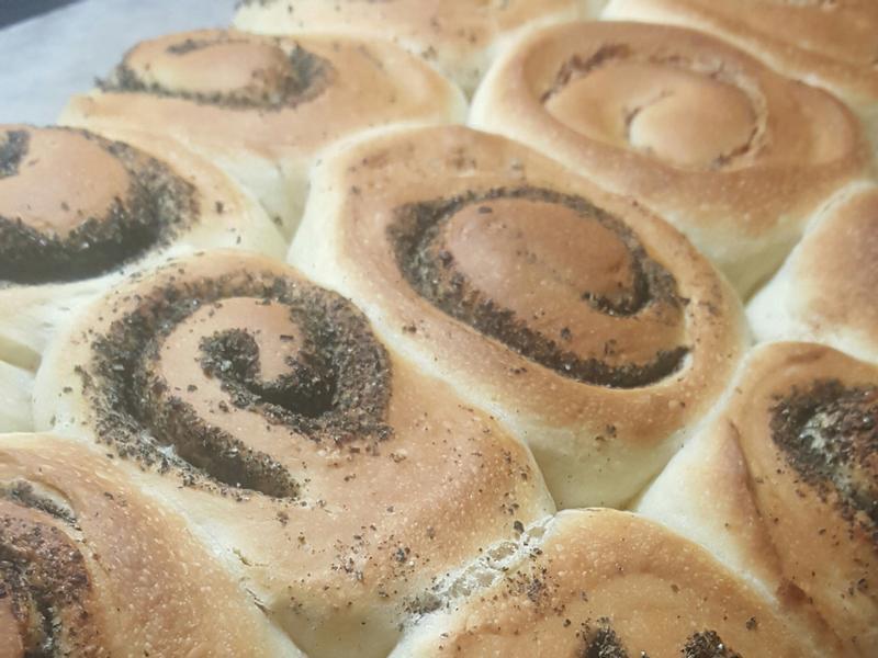 芝麻卷麵包/巧克力花生卷麵包