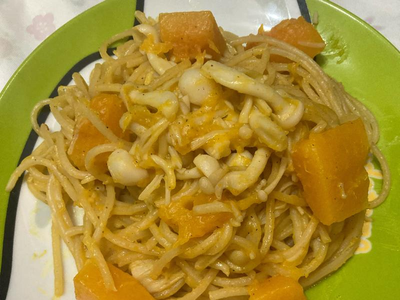 南瓜雙菇義大利麵