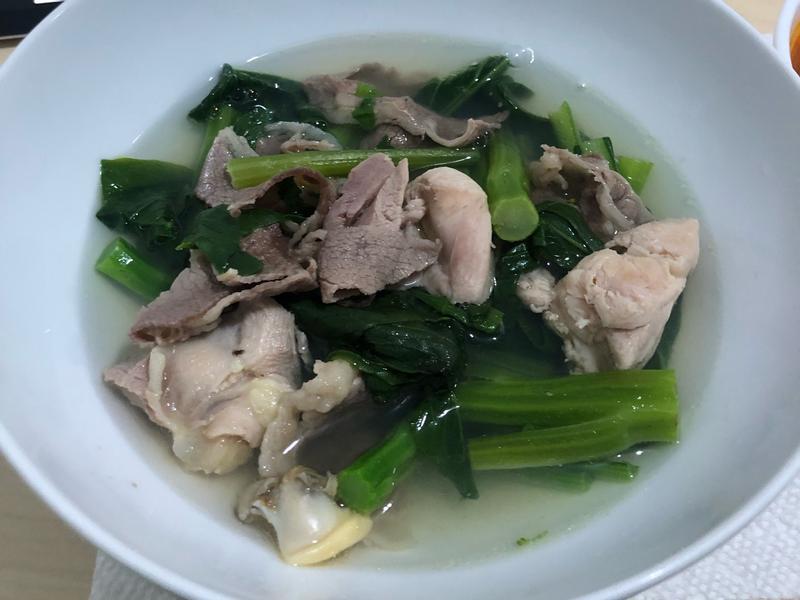 青菜肉片湯