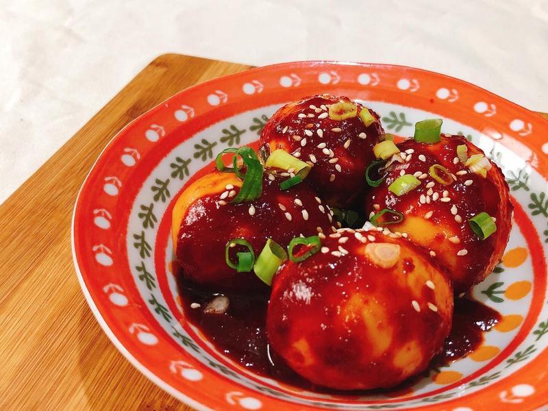 【韓式-小菜】麻藥雞蛋(香辣版) 素食
