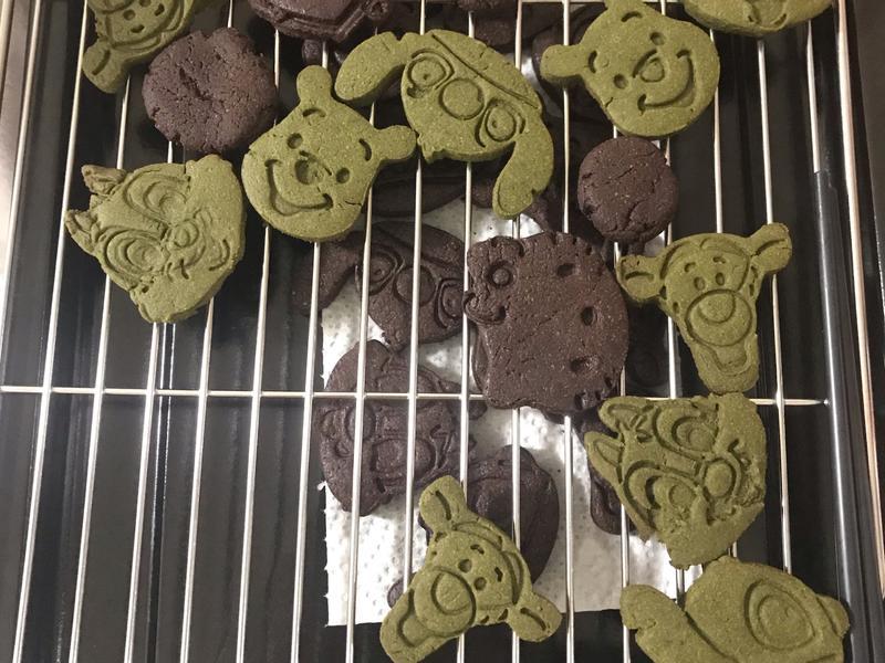 卡通壓模餅乾(抹茶以及巧克力)