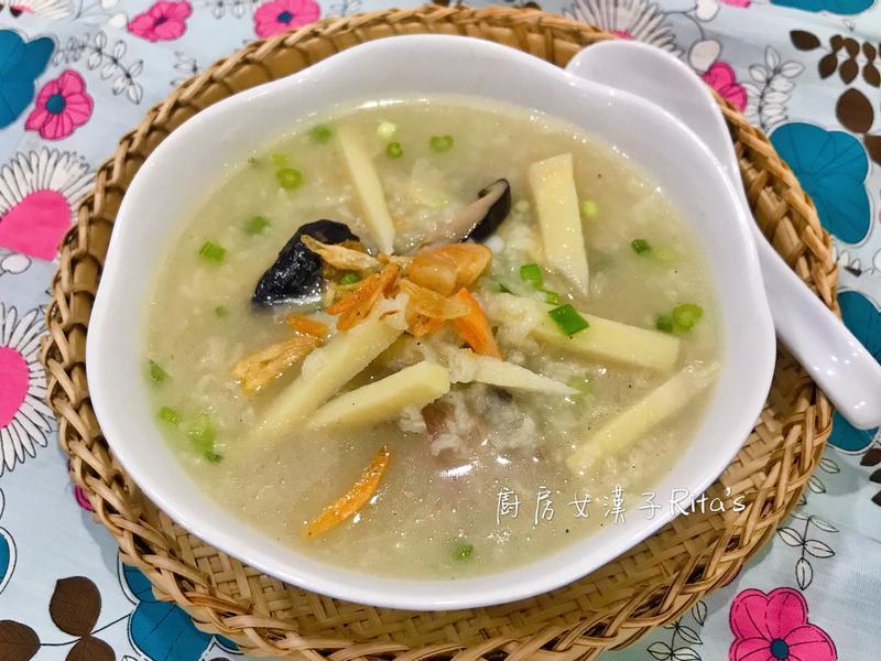 香菇鮮筍排骨鹹粥