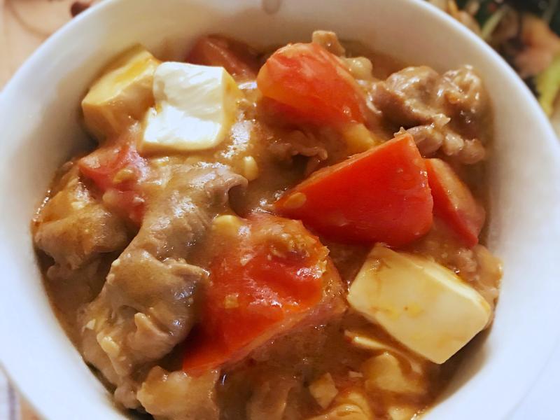 番茄燴豆腐 (露營OK)