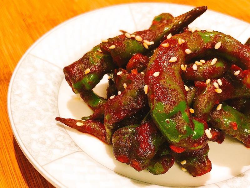 【韓式-小菜】 香辣糯米椒涼拌 素食👌
