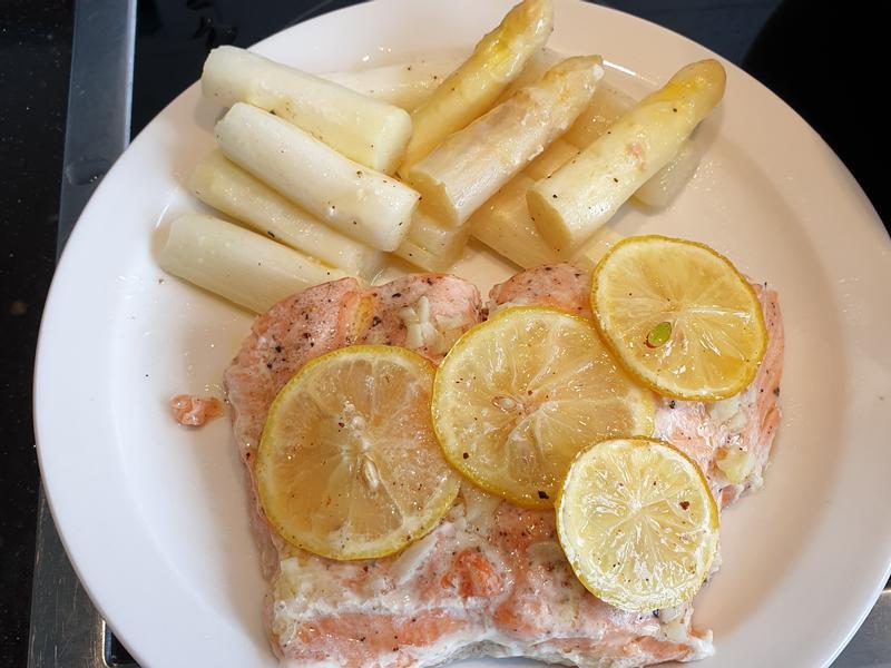 氣炸鍋檸檬鮭魚