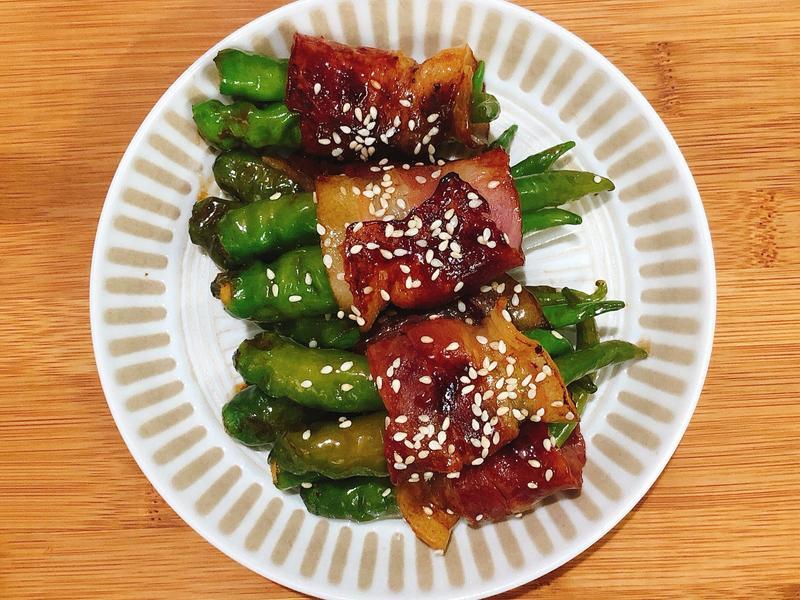 【韓式-小菜】 培根包糯米椒 低碳食單