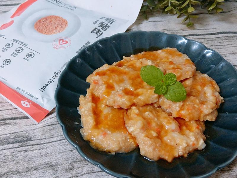 肉末(新豬肉)豆腐蒸餅(全素)